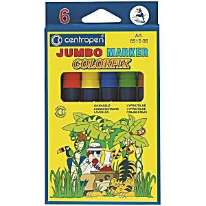 Фломастеры 6 цветов JUMBO COLORFIX